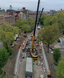 SPS Completes Successful Rapid Bridge Replacement of Mass Ave over Comm Ave